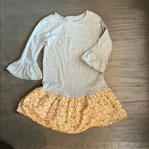 Gap Kids 5T gray and yellow dress - worn once
